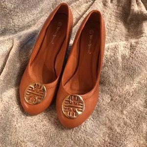 Shoes - Tan wedge heels